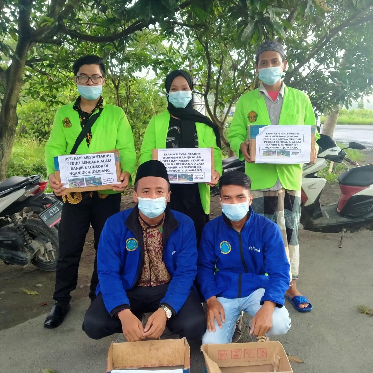 KSEI HMP MESra STAI Darul Hikmah Bangkalan Peduli Bencana Alam
